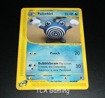 Reverse Holo Expedition Base Set Pokemon 1 x MP Poliwhirl Uncommon 89//165