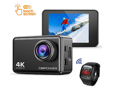 DBPOWER EX7000 Touchscreen WiFi Action Camera 4K Ultra HD 14MP