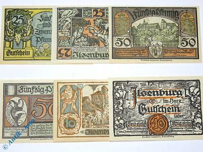 6 x Notgeld Stadt Ilsenburg , 6 x german emergency money , M/G 644.2 , kfr / unc