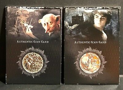 Lot of 2 Harry Potter Coin Cards CC1 and CC2 Memorable Moments  Artbox