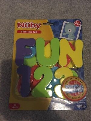 Nuby Bath Letters & Numbers, Fun Baby Toddler Bath Tub Activity Alphabet Toy Set