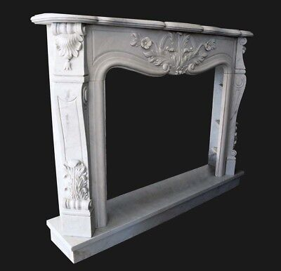 Fireplace White Marble Frame Style Classic Marble Classic Fireplace Frame