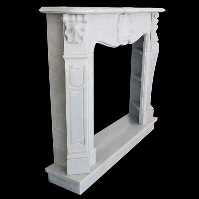 Fireplace White Marble Frame Style Classic White Marble Classic Fireplace Frame