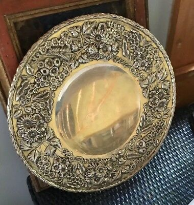 S. Kirk Son Inc(1925-1932)Sterling Silver Repousse Chased Footed Cake Plate #192