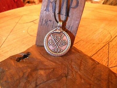 Stunning Lucifer Pendant - Superb Detail - Waxed Cord Necklace - Brand New