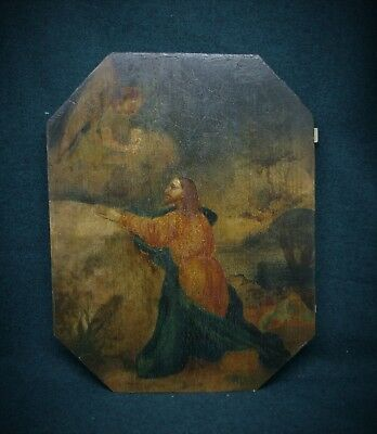 Antique icon of the middle of the XIX century, painting on wood