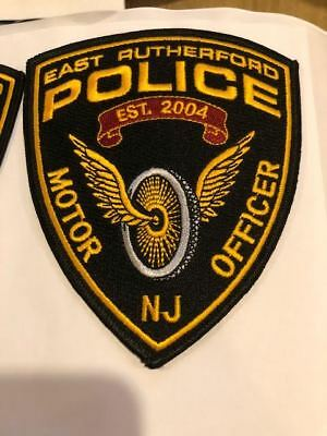 East Rutherford Motor Officer NJ New Jersey Police Patch Bergen County