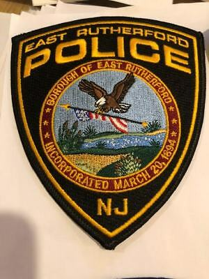 East Rutherford NJ New Jersey Police Patch Bergen County