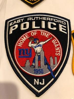 East Rutherford NY New York Giants NJ New Jersey Police Patch Bergen County