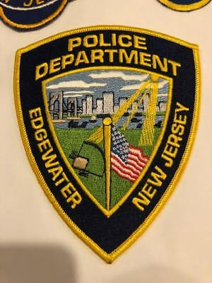 Edgewater NJ New Jersey Police Patch Bergen County