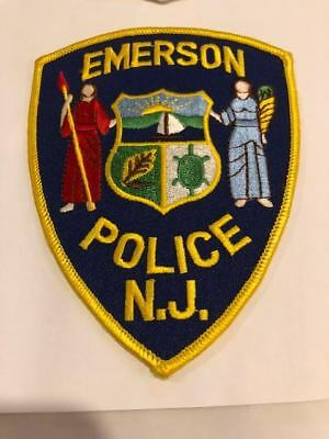 Emerson NJ New Jersey Police Patch Bergen County