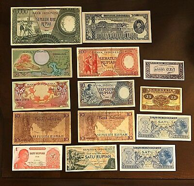 Indonesia | 1945-68 | OLD Notes set(13 notes) |