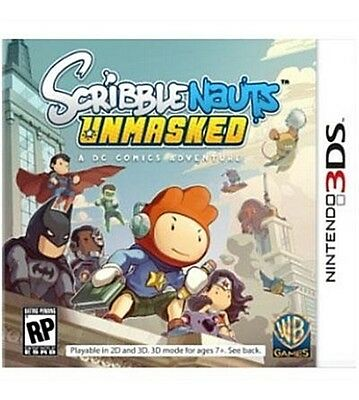 Scribblenauts Unmasked: A DC Comics Adventure (Nintendo 3DS, 2013) GAME ONLY