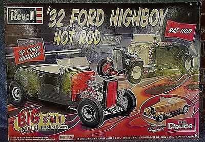 REVELL HUGE 1/8 SCALE '32 FORD HIGHBOY HOT ROD 3 IN 1 MODEL KIT NEW in BOX