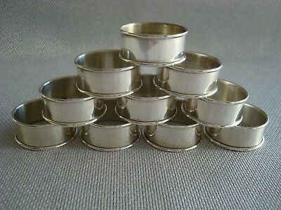 INTERNATIONAL sterling silver ~ SET OF 10 NAPKIN RINGS ~ CLASSIC & FABULOUS!