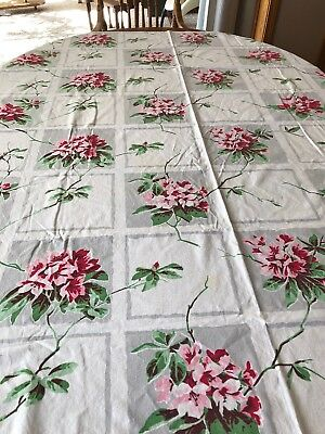 vintage tablecloth Pink And Red