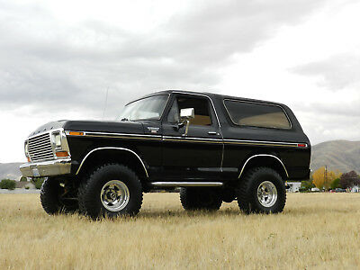 1978 Ford Bronco Ranger XLT 1978 Ford Bronco Ranger XLT 4x4 61k miles black on red classic collector rare