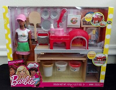 Barbie Pizza Chef Doll And Playset - New!