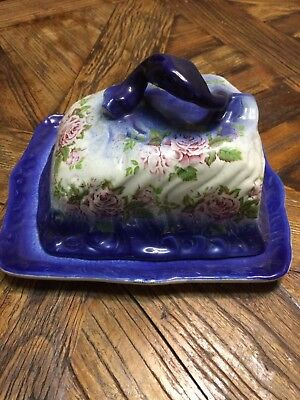 Antique 1lb butter dish with lid