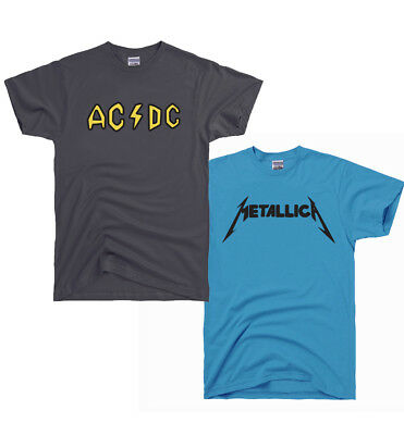ACDC AC DC and Metallica Shirt Beavis and Butthead Costume Halloween Pick Size