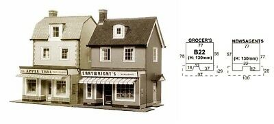 Super Quick SQB22 Model Railway Kits OO HO Gauge Scale - Two country town shops