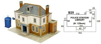 Super Quick SQB25 Model Railway Kits OO HO Gauge Scale Police station or Library