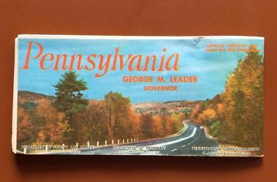 Vintage Pennsylvania Official State Highway Map 1958