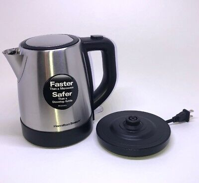 Hamilton Beach 40998 1 L Stainless Steel Electric Kettle, Silver FREE SHIPPING!