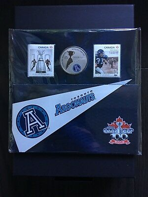 TORONTO ARGONAUTS 2012 Canadian Football Grey Cup Stamps & Coins Set // Sealed