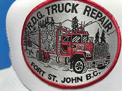 Vintage Trucker Farmer Hat Cap Patch R.D.G. Truck Repair