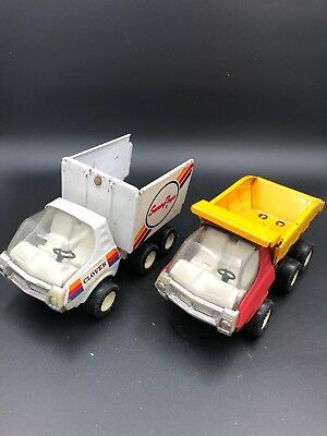 Tin Toy Trucks X 2 Vintage Clover
