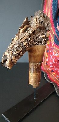 Old Borneo Dayak Mandau Headhunter Sword Handle …beautiful collection piece...