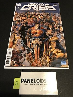 HEROES IN CRISIS # 1 SIGNED by TOM KING NYCC 2018 DC UNIVERSE
