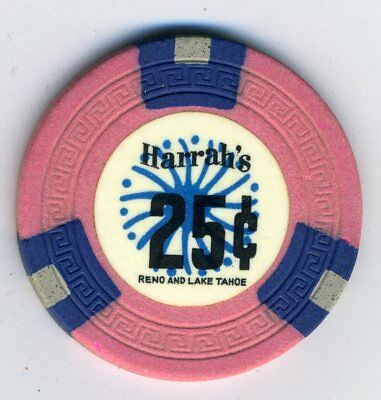 1960s 25-cent chip from Harrah's Reno/Lake Tahoe, TCR value $75-$99