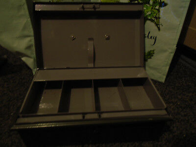 "Vintage Green Metal Security Deed, Deposit Box ""VICTA"" made in England"