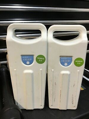 2 x Enovate Medical Mobius Power LIithium Iron battery 10.95V 26.5Ah, 29U 18Wh