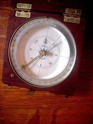 T. WHITNEY PHILAD. Vintage COMPASS in Mahogany  Box with SMITHSONIAN on Back