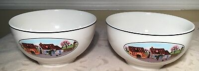Set of 2 Villeroy & Boch Design Naif Rice Bowls New with Tags