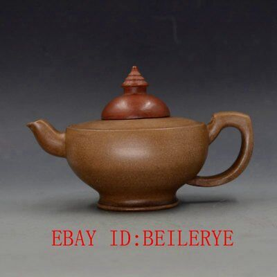 Antique Vintage Chinese Yixing Zisha Handmade Teapot & Lid Made By Lv Mingfang
