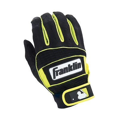Franklin Sports Neo Classic Series Batting Gloves Black/Optic Yellow