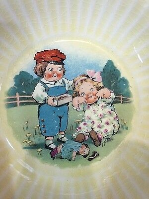 Vintage 1920/30 WHEATIES Pottery CHILDREN'S CEREAL BOWL Grace Drayton Doll Rare