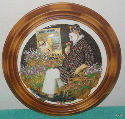 """1982 Royal Doulton """" Behind The Painted Masque """" Clown Plate Ltd Edition - Nice"""