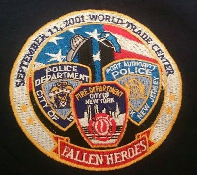 Nypd FDNY PAPD NYC WTC T-Shirt  Fantastic Condition Cool Embroidery SzXL
