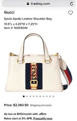 55c6c1a82b9df AUTHENTIC GUCCI SYLVIE Apollo White Leather Bag WITH TAGS ...