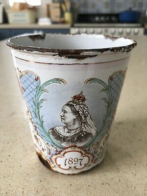 Royal Queen Victoria Commemorative Enameled Beaker Cup 1897