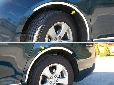4PC Stainless Steel Wheel Well Accent Trim - WQ11150 For TOYOTA SIENNA 2011-2019