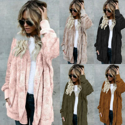 Womens Baggy Cardigan Coat Tops Chunky Knitted Oversized Ladies Sweater Jumper