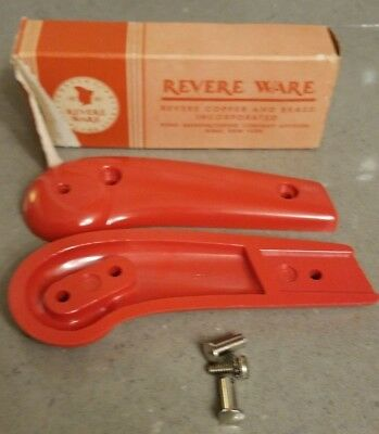 Rare Vtg Revere Ware new old stock Bakelite handle Midget Pistol Grip ORANGE/RED