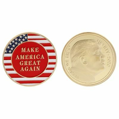 2020 Donald Trump President Oath Commemorative Coin Collection Golden Gift Craft