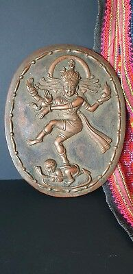 Old Tibetan Copper Wall Hanging …beautiful collection / display piece